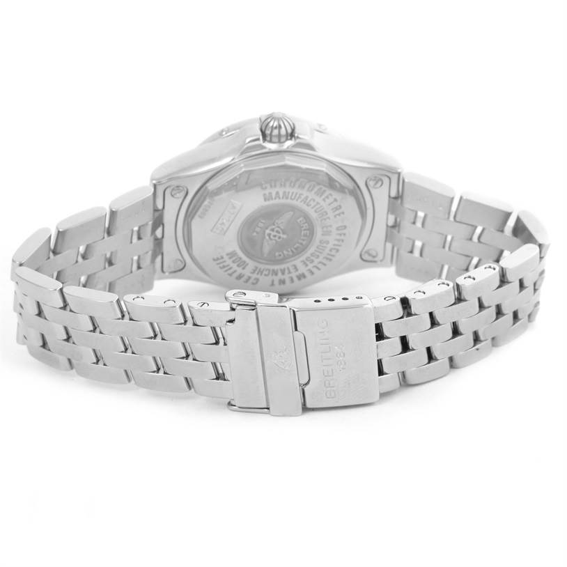 12638 Breitling Starliner Mother of Pearl Diamond Watch A71340 Box Papers SwissWatchExpo