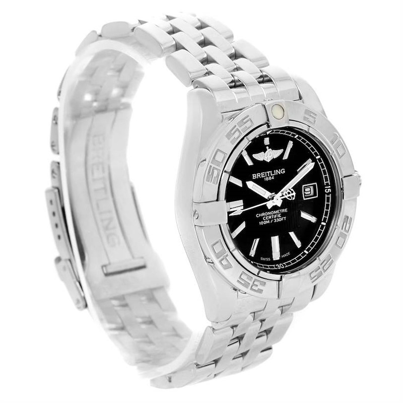Breitling Cockpit Steel Black Dial Womens Watch A71356 Box Papers SwissWatchExpo