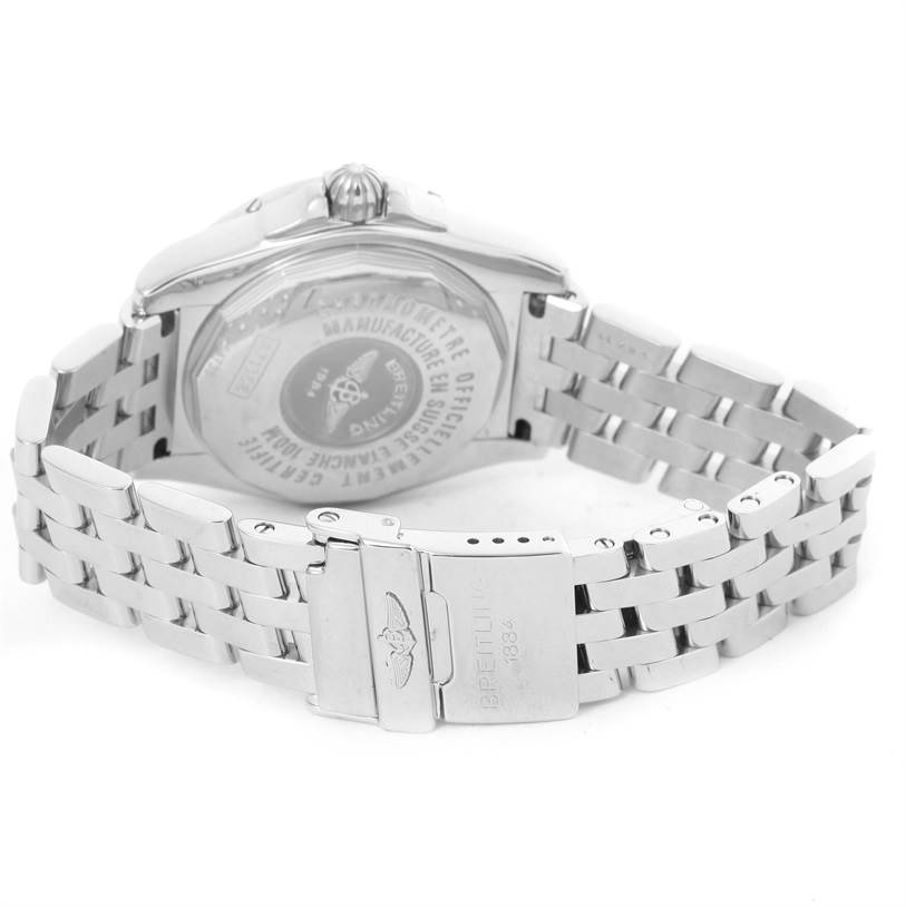12793 Breitling Cockpit Steel Black Dial Womens Watch A71356 Box Papers SwissWatchExpo