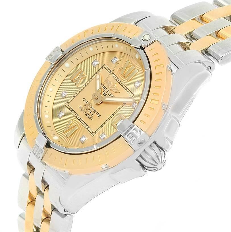 12972 Breitling Cockpit Ladies Steel Yellow Gold Diamond Watch D71356 SwissWatchExpo