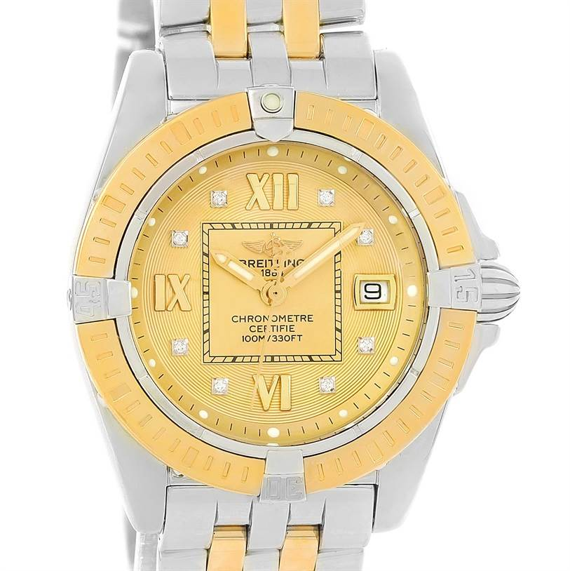 Photo of Breitling Cockpit Ladies Steel Yellow Gold Diamond Watch D71356
