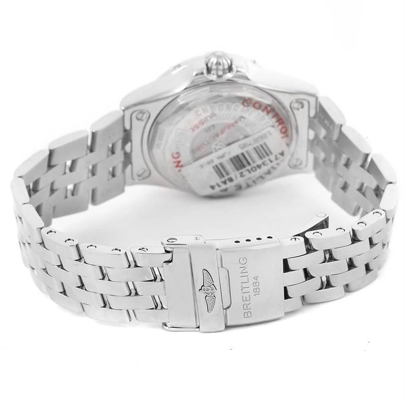 13187 Breitling Starliner Black Diamond Dial Ladies Watch A71340 Unworn SwissWatchExpo