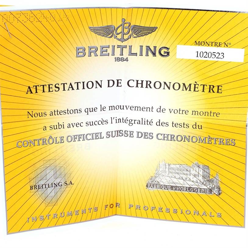 13150 Breitling Starliner Steel Yellow Gold Blue MOP Diamond Watch B71340 SwissWatchExpo