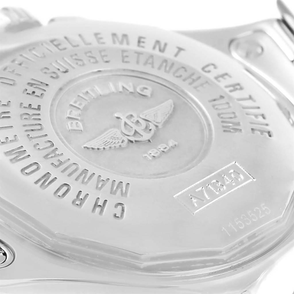13188 Breitling Starliner Black Diamond Dial Steel Ladies Watch A71340 SwissWatchExpo