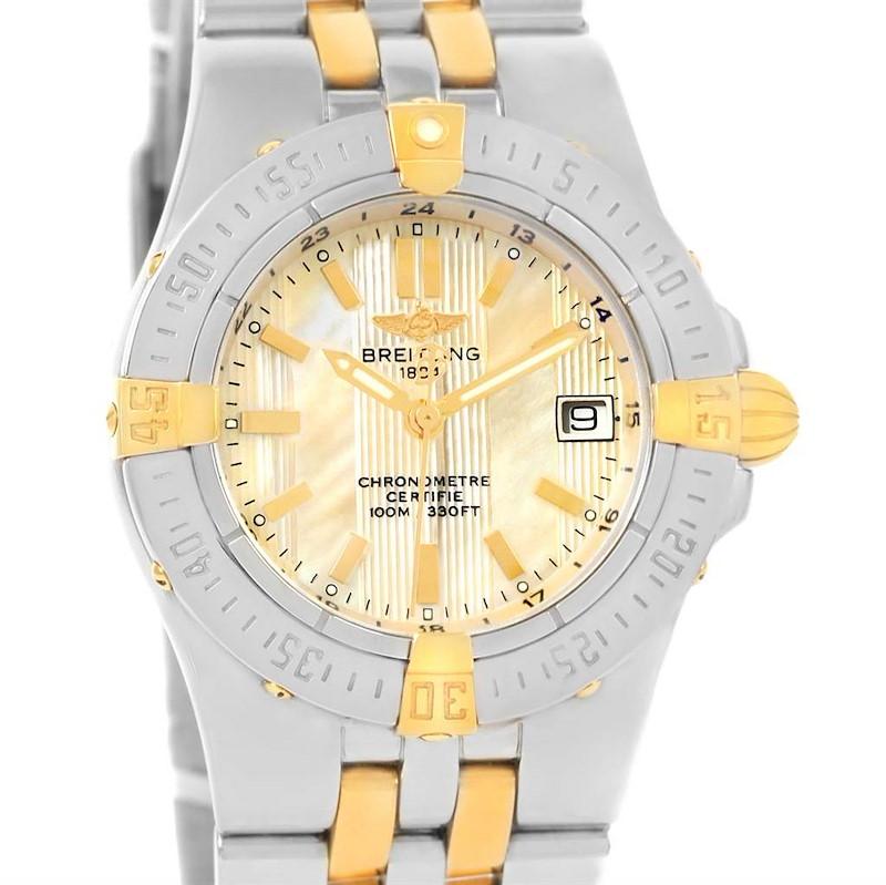 Breitling Starliner Steel 18K Yellow Gold MOP Dial Ladies Watch B71340 SwissWatchExpo