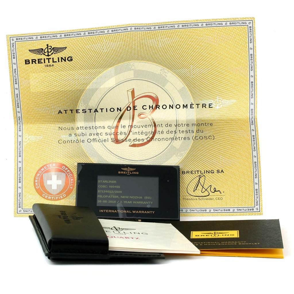 13812 Breitling Starliner Steel 18K Yellow Gold MOP Dial Ladies Watch B71340 SwissWatchExpo