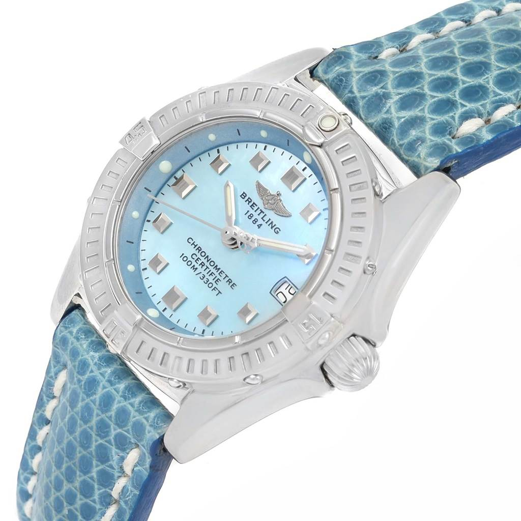 13815 Breitling Callisto Blue Mother of Pearl Dial Ladies Watch A72345 SwissWatchExpo