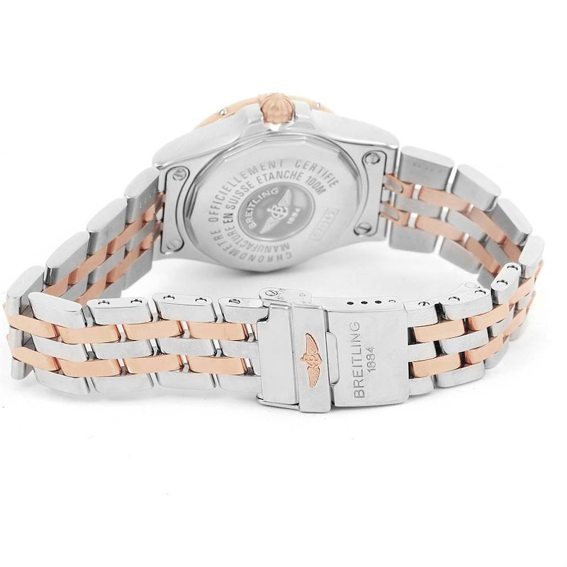 Breitling Galactic 30 Steel Rose Gold Diamond Dial Womens Watch C71340 SwissWatchExpo