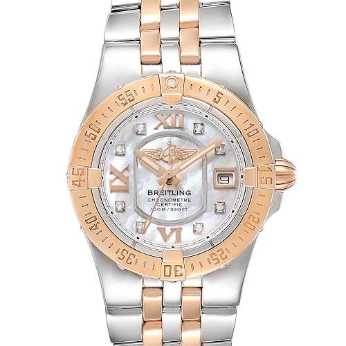 Photo of Breitling Galactic 30 Steel Rose Gold Diamond Dial Womens Watch C71340