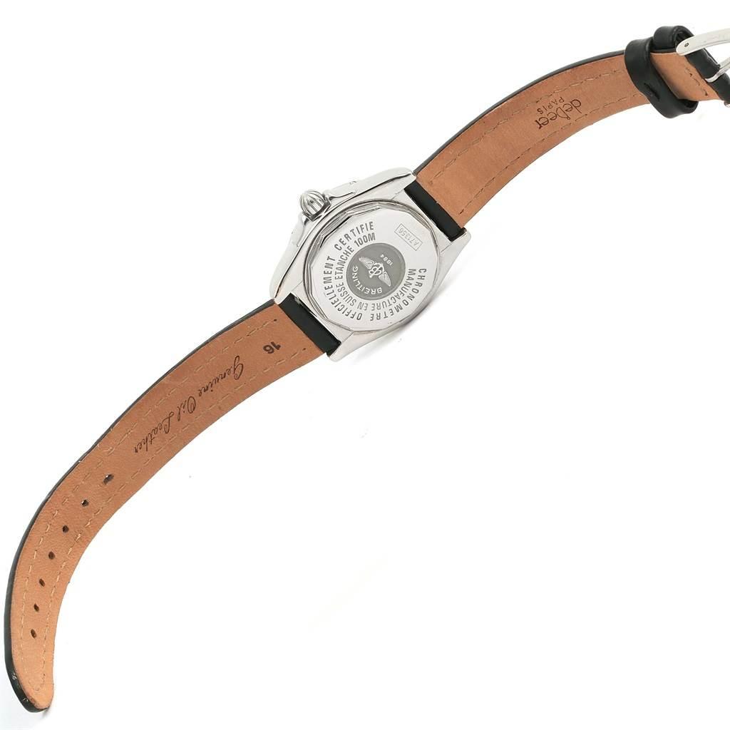 13808 Breitling Windrider Cockpit Black Diamond Dial Ladies Watch A71356 SwissWatchExpo