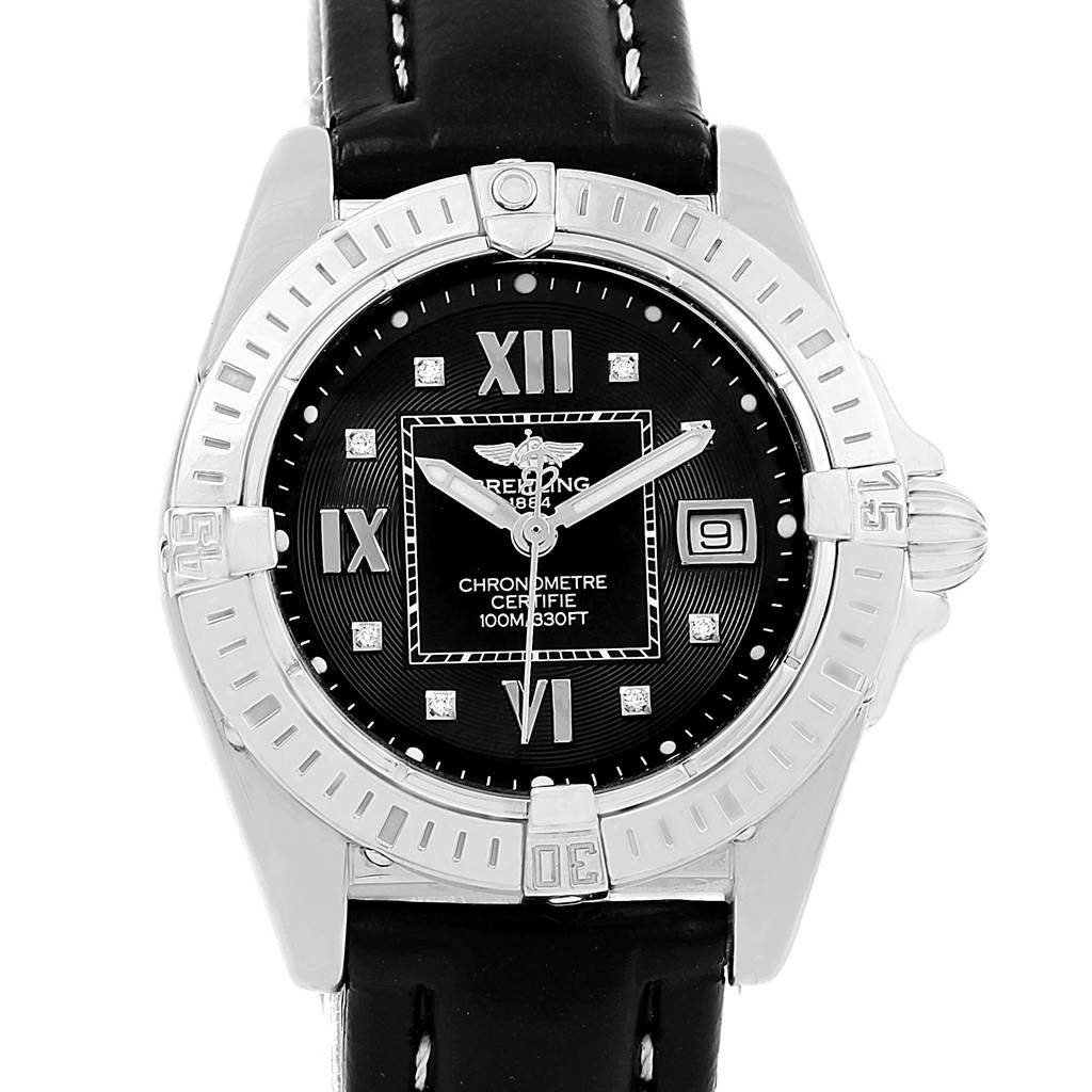 Photo of Breitling Windrider Cockpit Black Diamond Dial Ladies Watch A71356