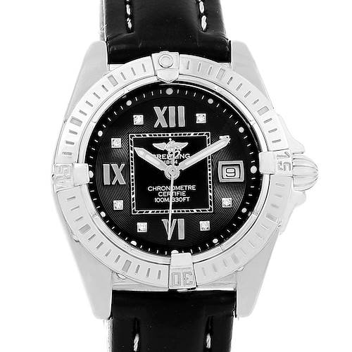 Photo of Breitling Windrider Cockpit Black Diamond Dial Ladies Watch A71356