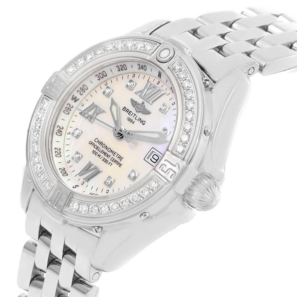 15089 Breitling B-Class MOP Diamond Dial Bezel Womens Watch A71365 SwissWatchExpo