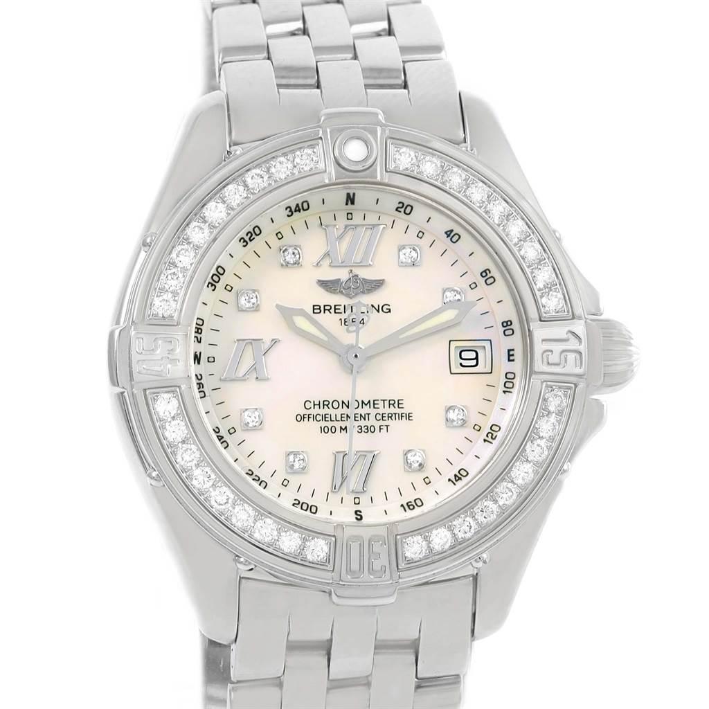Photo of Breitling B-Class MOP Diamond Dial Bezel Womens Watch A71365