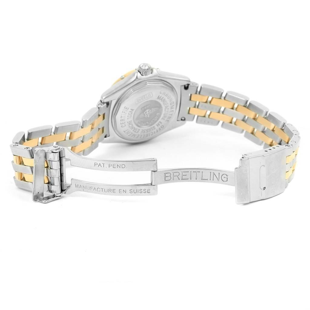 15101 Breitling Windrider Calisto Steel Yellow Gold Diamond Ladies Watch D72345 SwissWatchExpo