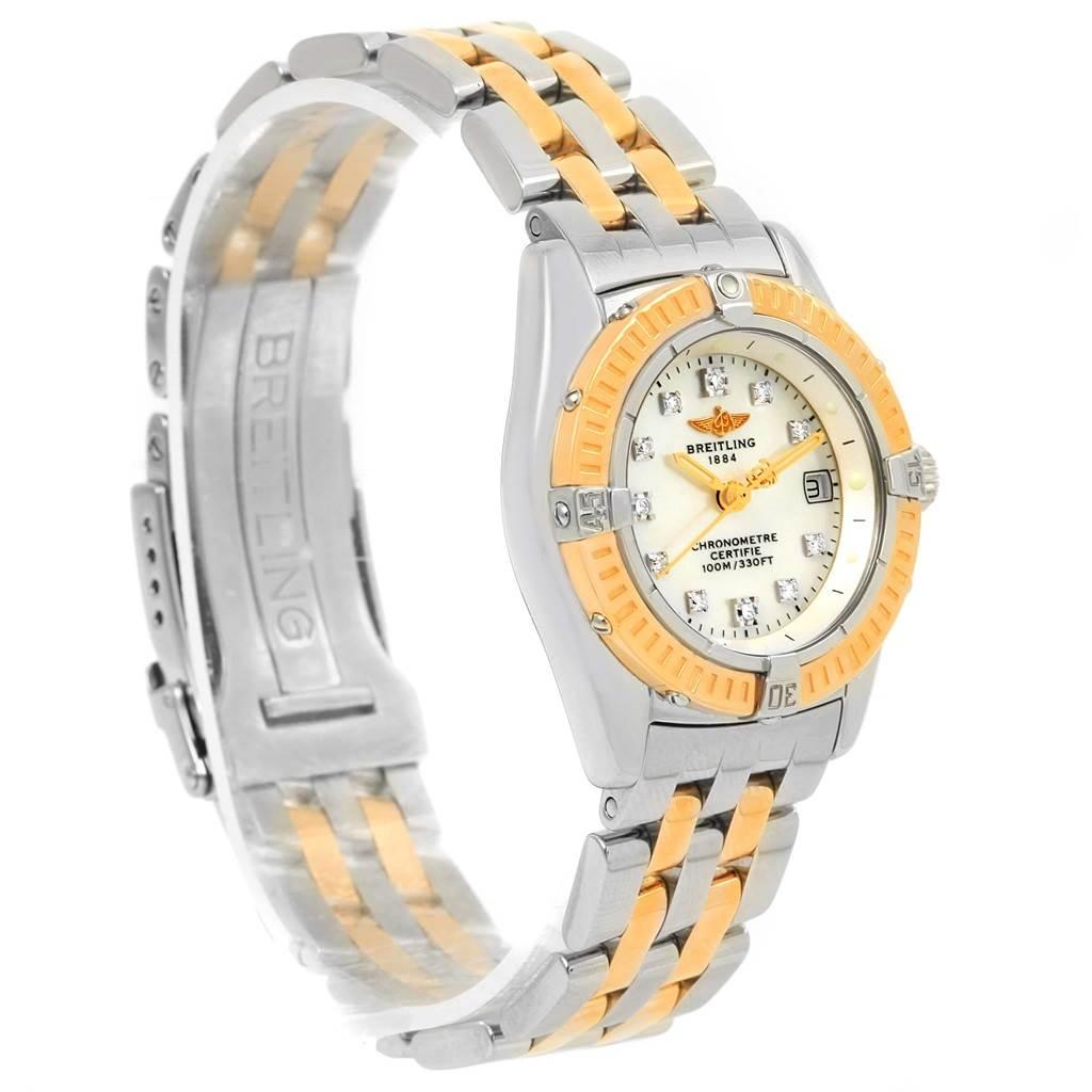 Breitling Windrider Calisto Steel Yellow Gold Diamond Ladies Watch D72345 SwissWatchExpo