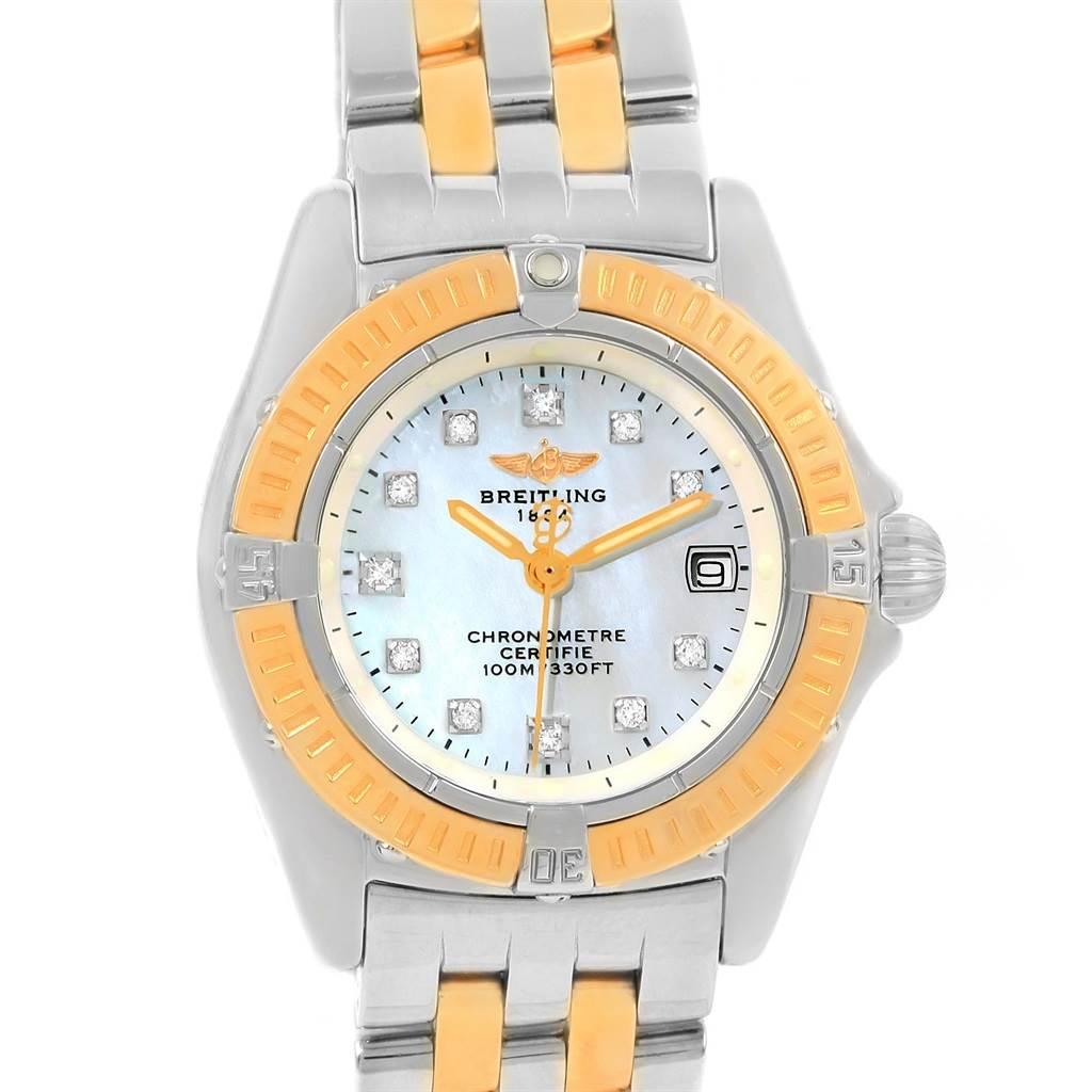 Photo of Breitling Windrider Calisto Steel Yellow Gold Diamond Ladies Watch D72345
