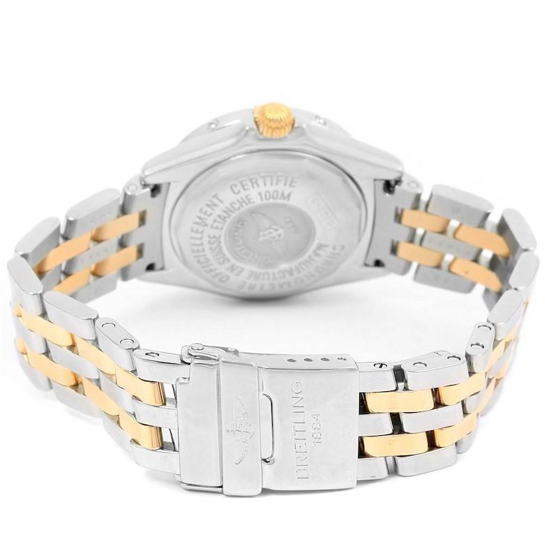 Breitling Callisto Ladies Blue Mother of Pearl Diamond Watch B72345 SwissWatchExpo