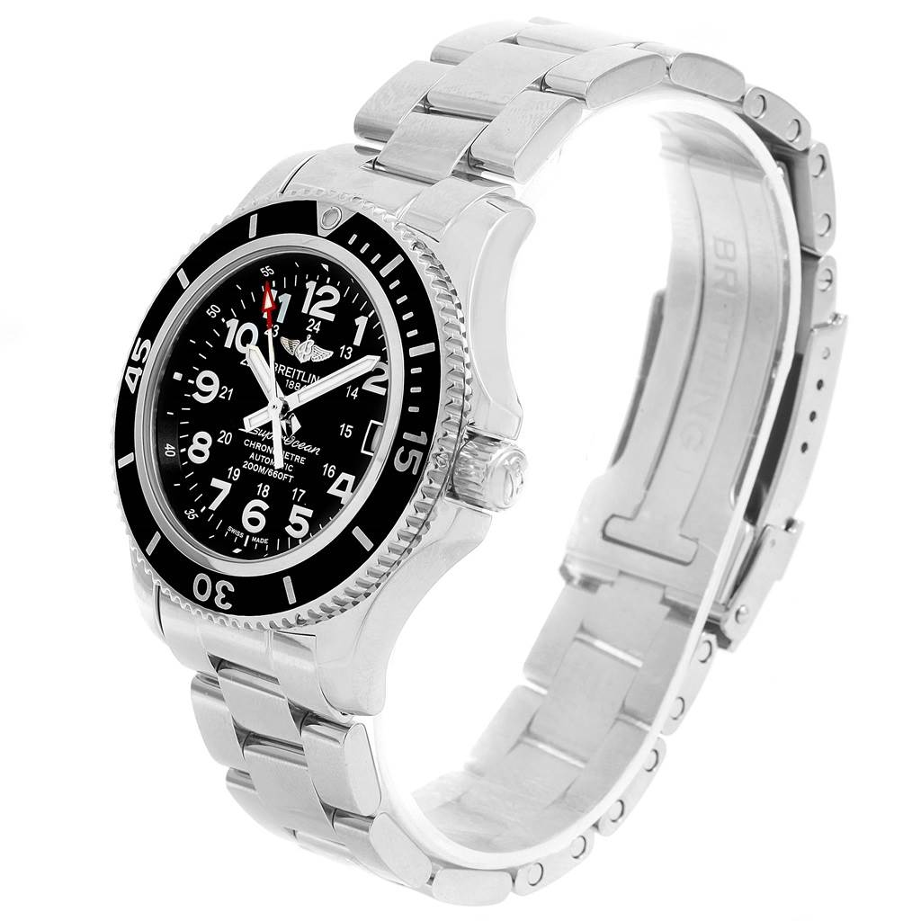15157 Breitling Superocean II 36 Black Dial Automatic Ladies Watch A17312 SwissWatchExpo