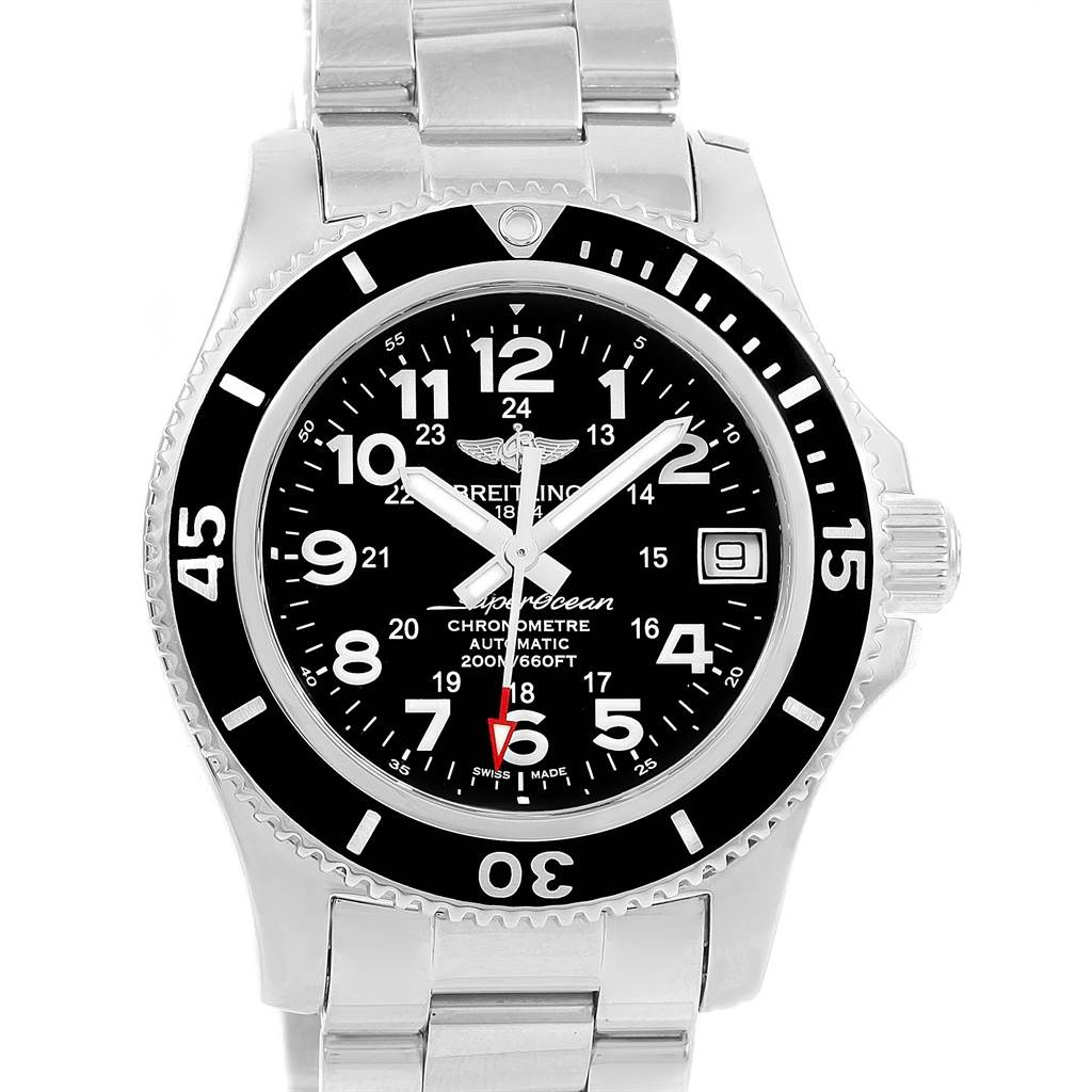 Photo of Breitling Superocean II 36 Black Dial Automatic Ladies Watch A17312