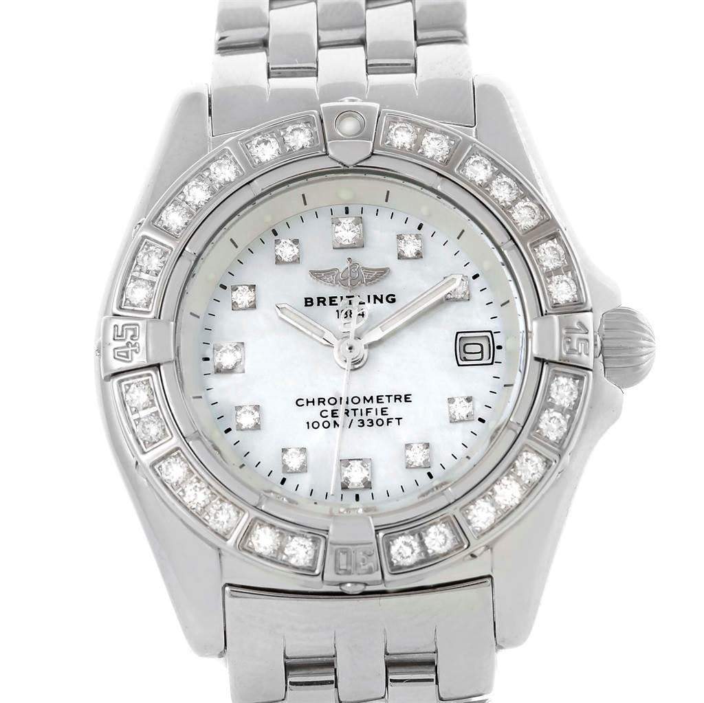 Photo of Breitling Callisto MOP Diamond Ladies Watch A72345 Box papers