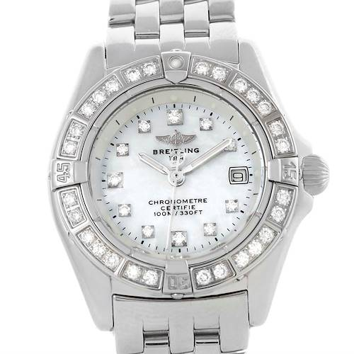 Photo of Breitling Callisto MOP Diamond Ladies Watch A72345 Box papers