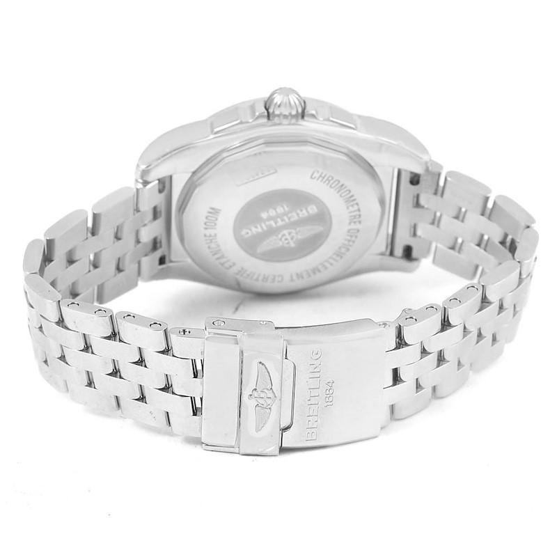 Breitling Galactic 36 Black Dial Diamond Ladies Watch W74330 Unworn SwissWatchExpo