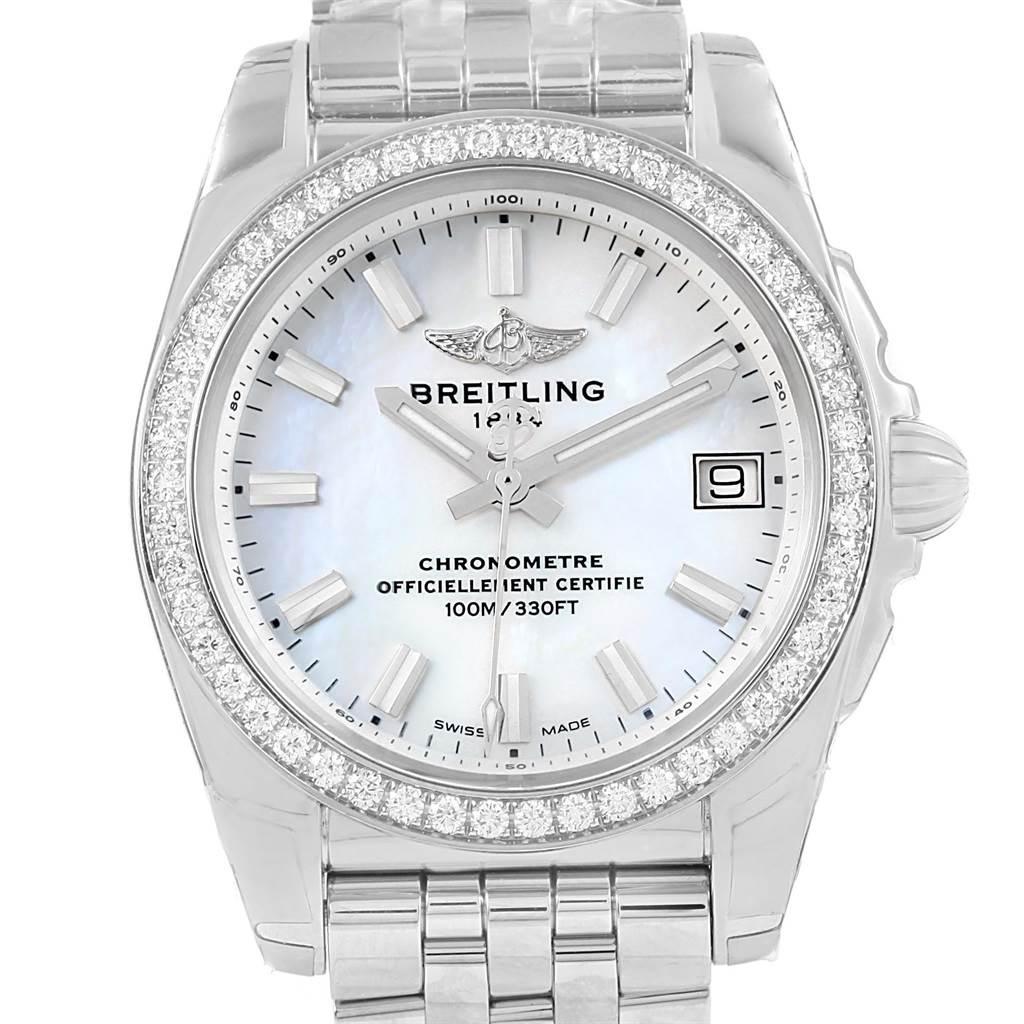 Photo of Breitling Galactic 36 MOP Dial Diamond Ladies Watch W74330 Unworn