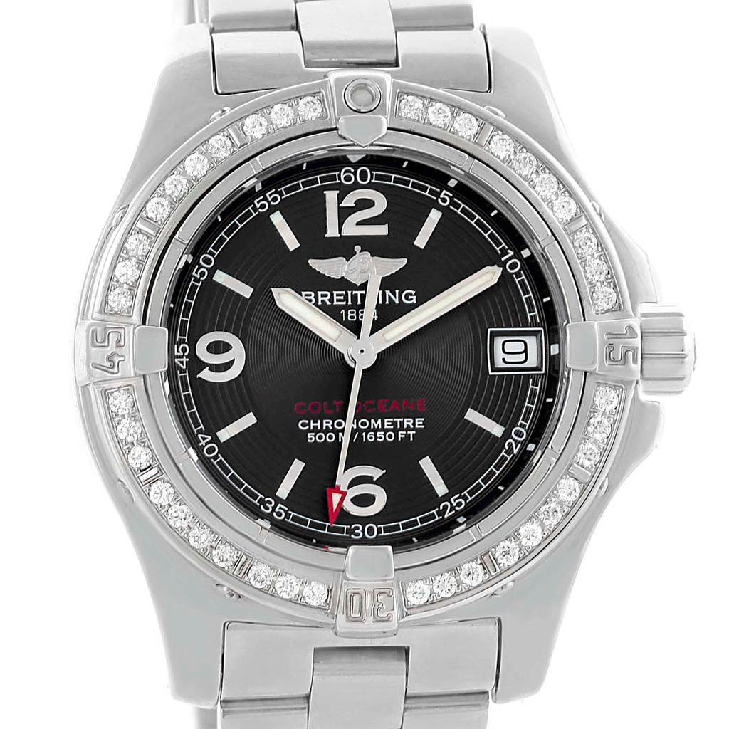 Breitling Colt Oceane Stainless Steel Diamond Ladies Watch A77380 SwissWatchExpo