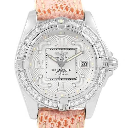 Photo of Breitling Windrider Cockpit Silver Diamond Dial Ladies Watch A71356