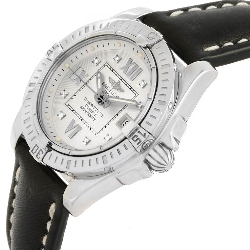 Breitling Windrider Cockpit Diamond Dial Ladies Watch A71356 Box Papers SwissWatchExpo