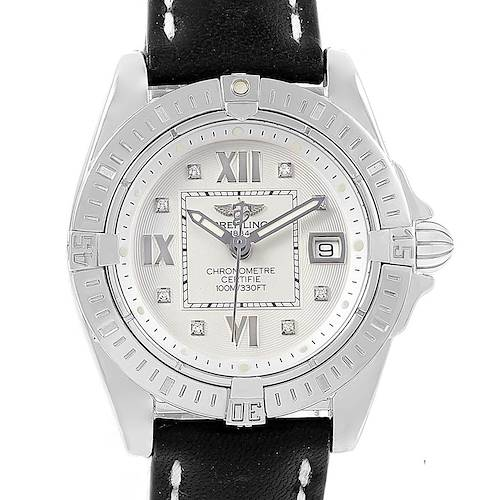Photo of Breitling Windrider Cockpit Diamond Dial Ladies Watch A71356 Box Papers