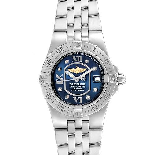 Photo of Breitling Starliner Blue Diamond Dial Steel Ladies Watch A71340