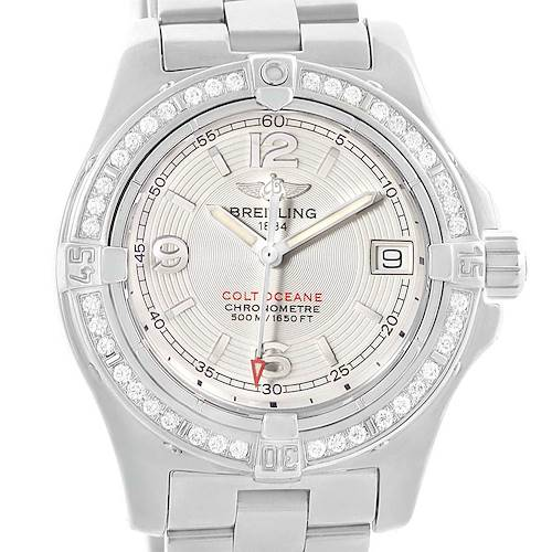 Photo of Breitling Colt Oceane Stainless Steel Diamond Ladies Watch A77380