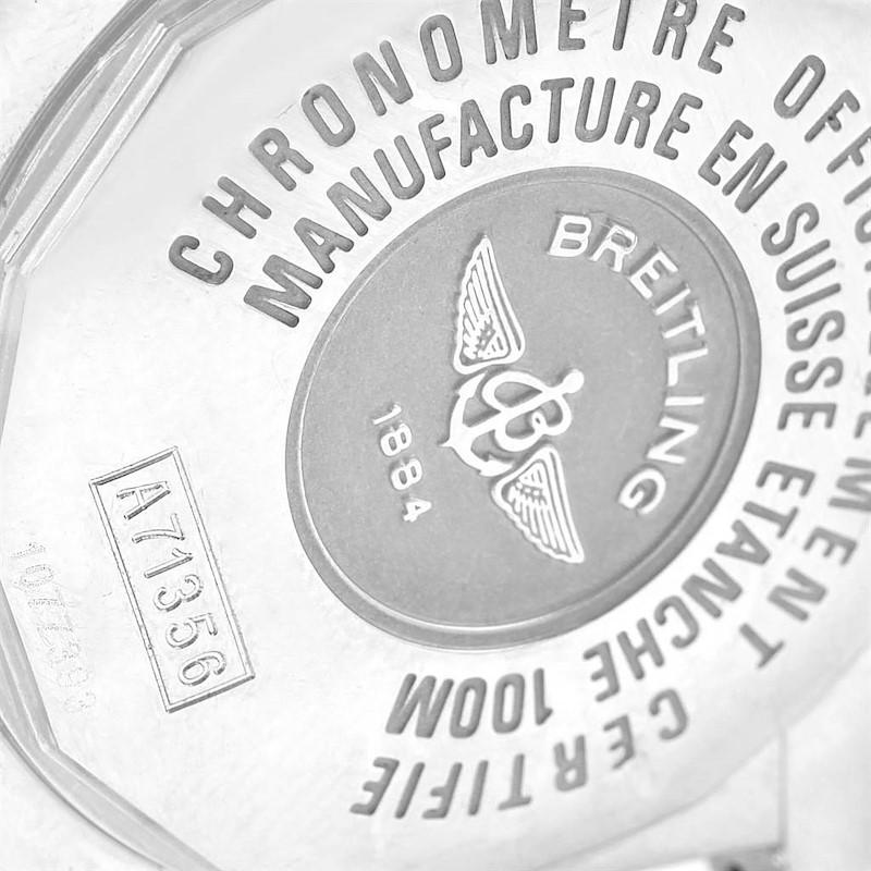 Breitling Cockpit Mother of Pearl Diamond Steel Ladies Watch A71356 SwissWatchExpo