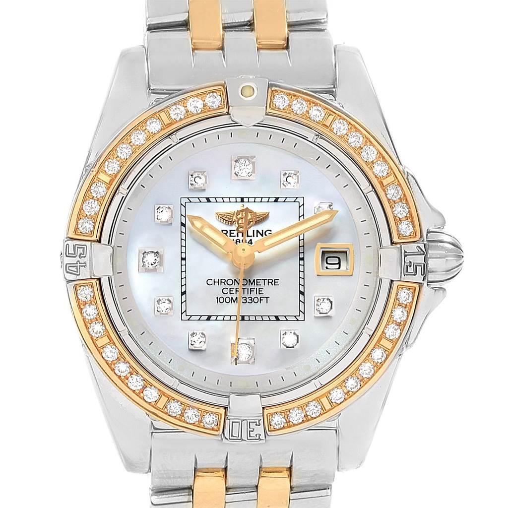Photo of Breitling Cockpit Ladies Steel 18K Yellow Gold Diamond Watch D71356