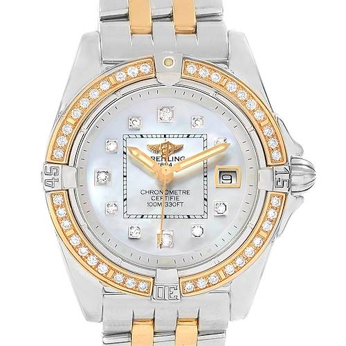 Photo of Breitling Cockpit Ladies Steel 18K Yellow Gold Diamond Watch D71356