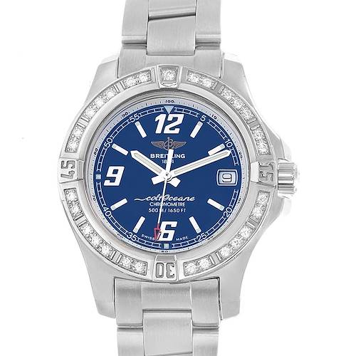 Photo of Breitling Colt Blue Dial Diamond Bezel Steel Ladies Watch A77388