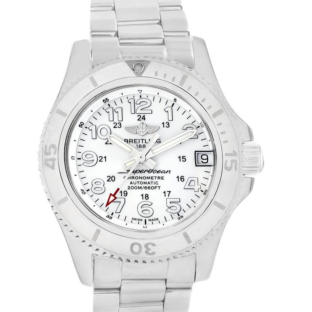 Photo of Breitling Superocean II 36 Hurricane White Steel Ladies Watch A17312