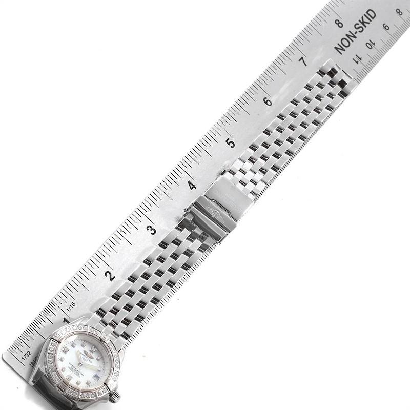 Breitling Callistino White Gold Mother of Pearl Diamond Ladies Watch J72345 SwissWatchExpo