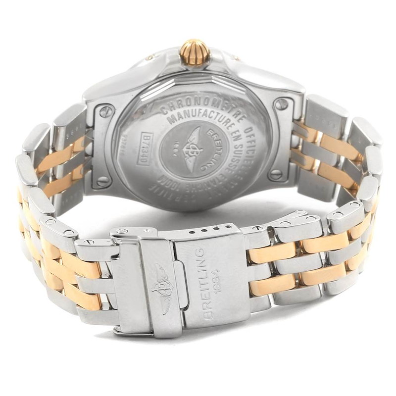Breitling Starliner Steel Yellow Gold MOP Diamond Ladies Watch B71340 SwissWatchExpo
