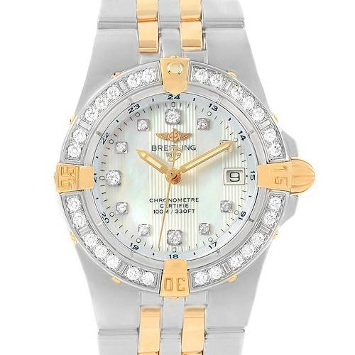 Photo of Breitling Starliner Steel Yellow Gold MOP Diamond Ladies Watch B71340