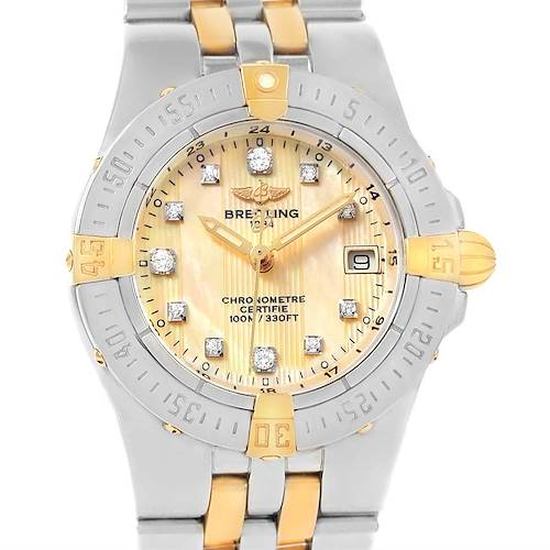 Photo of Breitling Starliner Steel Gold Yellow MOP Diamond Ladies Watch B71340