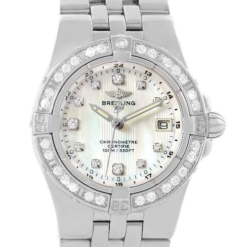 Photo of Breitling Starliner Mother of Pearl Diamond Ladies Watch A71340