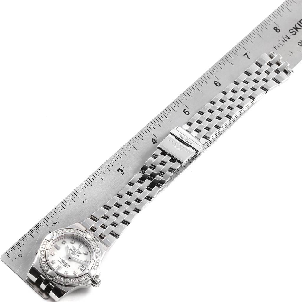 21328 Breitling Starliner Diamond Dial Bezel Steel Ladies Watch A71340 SwissWatchExpo