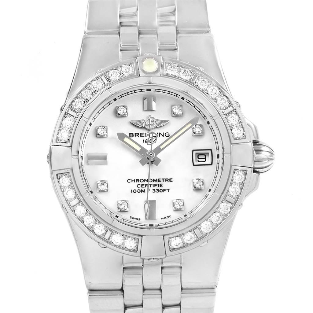 Photo of Breitling Starliner Diamond Dial Bezel Steel Ladies Watch A71340
