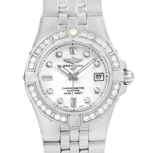 Photo of Breitling Starliner Diamond Dial Bezel Steel Ladies Watch A71340