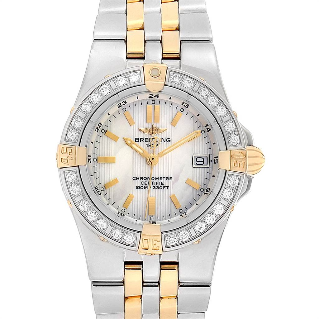Photo of Breitling Starliner Steel Yellow Gold MOP Diamond Ladies Watch B71340