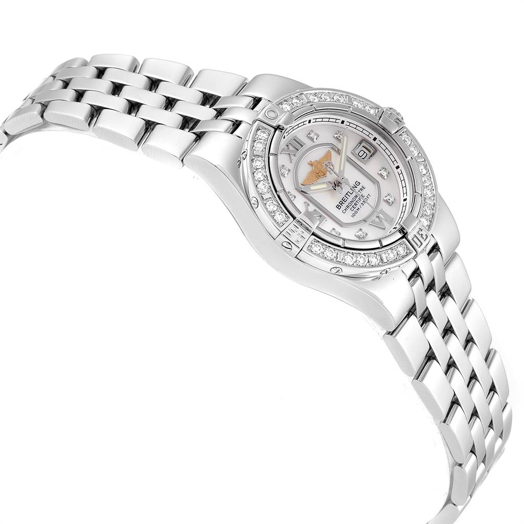Breitling Starliner 30mm Mother of Pearl Diamond Ladies Watch A71340 SwissWatchExpo