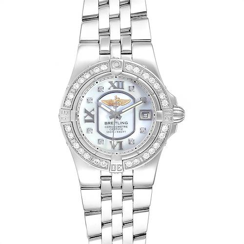 Photo of Breitling Starliner 30mm Mother of Pearl Diamond Ladies Watch A71340